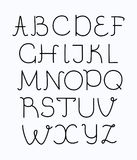 Thin line style modern font with long shadow Stock Photography