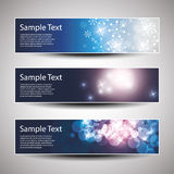 Vector set of three banner designs Stock Images