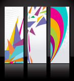 Vector set of three colorful banners background Stock Photos