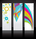Vector set of three colorful banners background Stock Photo