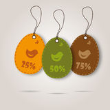 Vector set of three easter day celebration shopping tags Stock Photo