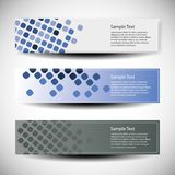 Vector set of three header designs Stock Photos