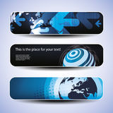 Vector Set of Three Header Designs Royalty Free Stock Photography