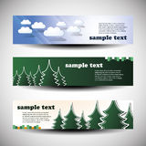 Vector Set of Three Header Designs Stock Images