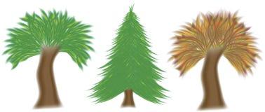 Vector set of three trees Stock Photo