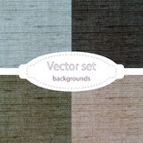 Vector set of tissue backgrounds Royalty Free Stock Photography