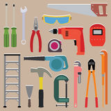 Vector set of tools instrument Stock Images