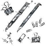 Vector set of tools. Isolate on white background. Royalty Free Stock Photos