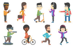 Vector set of tourists and business characters. Stock Images