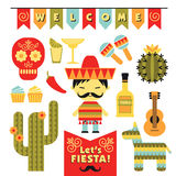 Vector set with traditional Mexican symbols. Stock Photos