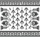 Vector set Traditional vintage Greek ornament Meander and floral pattern Royalty Free Stock Photos