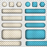 Vector set of transparency buttons. Vector illustration contains gradients and effects. Stock Image