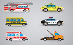 Vector set of the  transport icons. Fire Stock Image