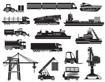 Vector set of Transport icons Royalty Free Stock Photo