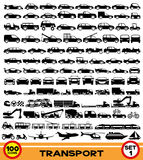 Vector set. Transportation icons. Royalty Free Stock Images