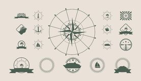 Vector set of travel emblems and design elements Royalty Free Stock Image