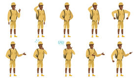 Vector set of traveler characters. Stock Images