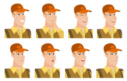 Vector set of traveler characters. Stock Photos