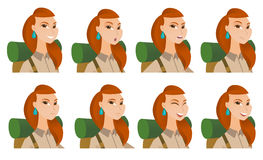 Vector set of traveler characters. Stock Image