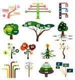 Vector set of tree infographic design templates Royalty Free Stock Photo