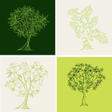 Vector set of trees Royalty Free Stock Images