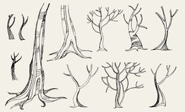 Vector set of trees Stock Image