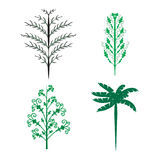 Vector set of trees logo with different styles. Vector set of trees with different styles isolated on white background. Ideal for logo, logotype, symbol Stock Photography