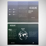 Vector set of tri-fold brochure design template on Royalty Free Stock Images