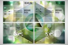 Vector set of tri-fold brochure design template on Stock Photos