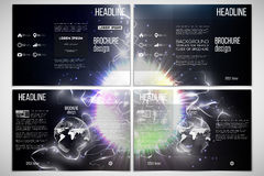 Vector set of tri-fold brochure design template on Stock Images