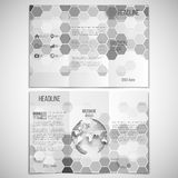 Vector set of tri-fold brochure design template on Royalty Free Stock Photos