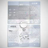 Vector set of tri-fold brochure design template on Stock Photos
