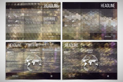 Vector set of tri-fold brochure design template on Royalty Free Stock Photo