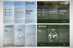 Vector set of tri-fold brochure design template  Royalty Free Stock Photo