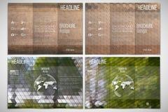 Vector set of tri-fold brochure design template  Stock Photos