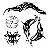 Vector Set of Tribal Tattoo Royalty Free Stock Images