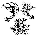Vector Set of Tribal Tattoo Royalty Free Stock Photos