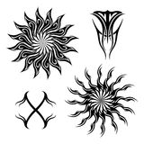 Vector Set of Tribal Tattoo Royalty Free Stock Image