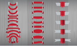 Vector set of tricolor, flat, long and short ribbon banners Royalty Free Stock Photography