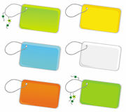 Vector set of  trinket  tags Royalty Free Stock Photo