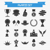 Vector set of trophies and awards. For your design Stock Photo