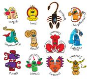Monsters signs of the zodiac. Icons for horoscopes Stock Images