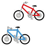 Vector Set Of Two Different Bikes Isolated Royalty Free Stock Photography