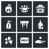 Vector Set of Ukraine issues Icons.  Royalty Free Stock Image