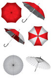 Vector set of umbrellas Royalty Free Stock Image