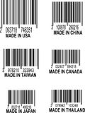 Vector Set of UPC Bar codes Stock Images