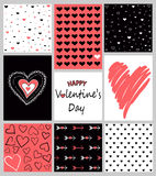 Vector set of Valentine`s Day posters Stock Photography
