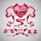 Vector set of valentines day banner Stock Image