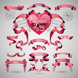 Vector set of valentines day banners Stock Photography