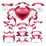 Vector set of valentines day banners Stock Image